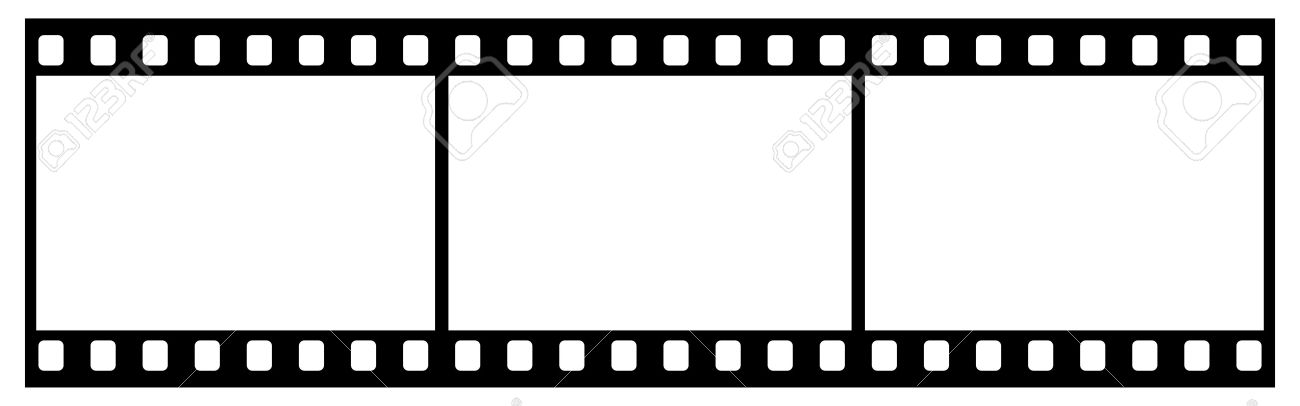 Film Strip With Three Frames, 35mm Format, White Background Stock ...