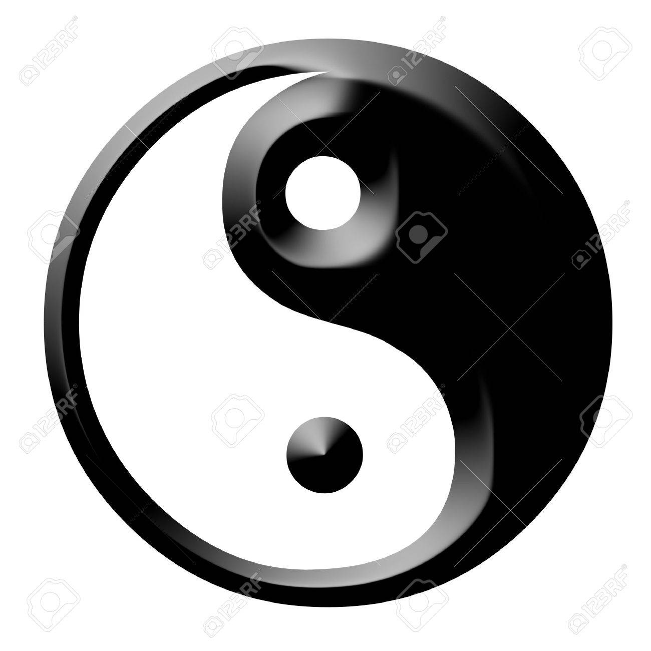 Dual Concepts Of Yin And Yang Describes Two Primal Opposing But Complementary Cosmic Forces Stock Photo - 2689241