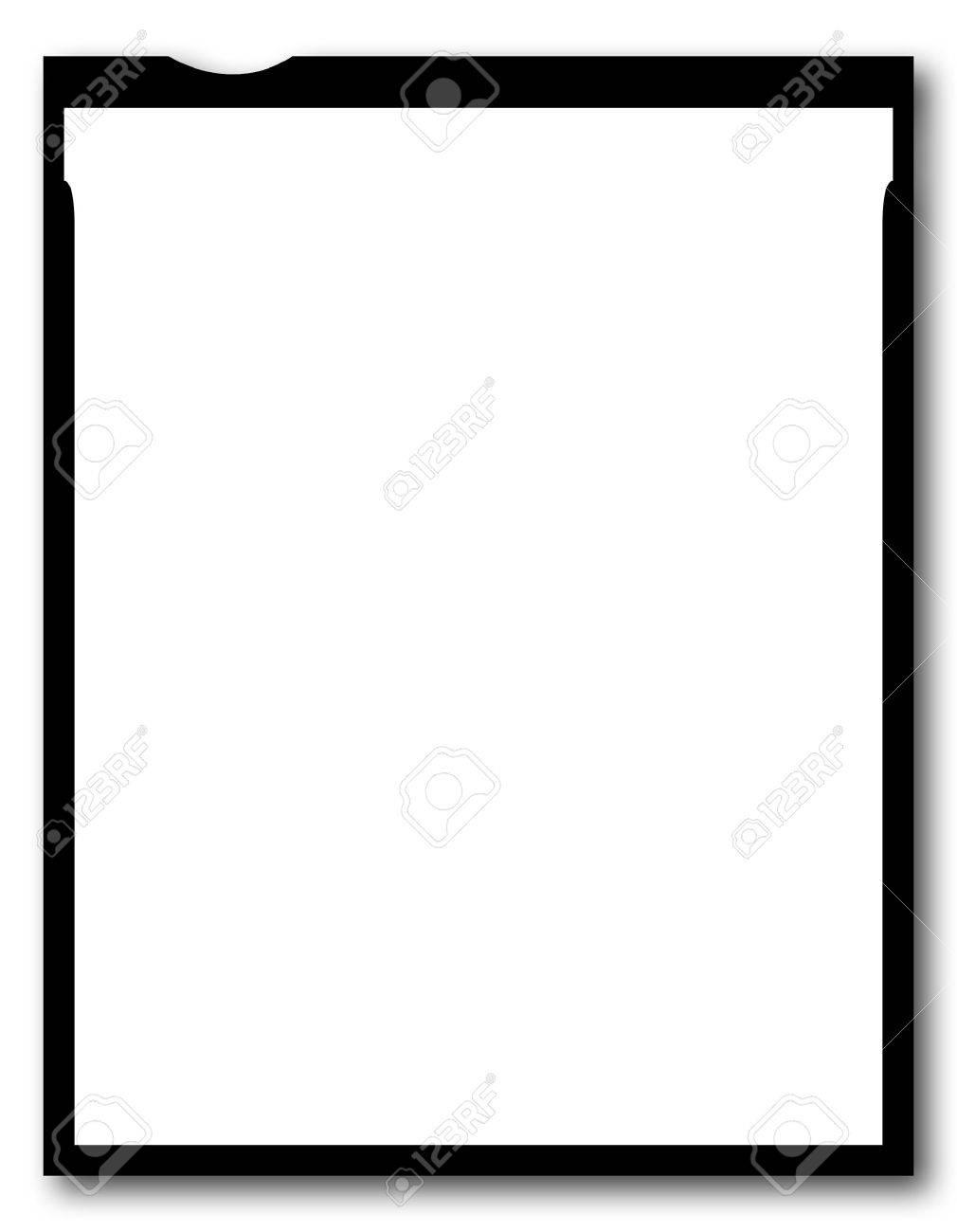 Una Pieza En Blanco De 4x5 Pulgadas Hoja De Película, De Gran ...