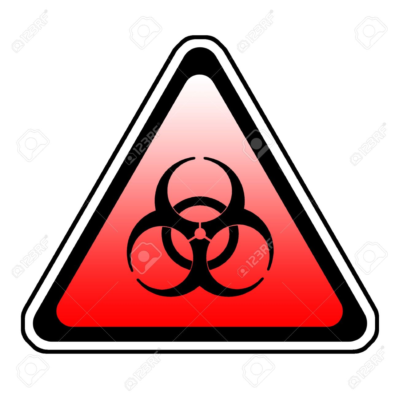 Biohazard Warning Sign Bio Hazard Symbol White Background Stock