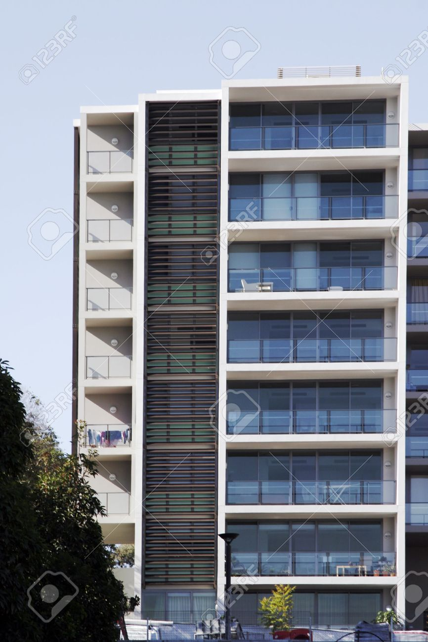 Modern Urban Apartment Building In Sydney, Australia Stock Photo ...