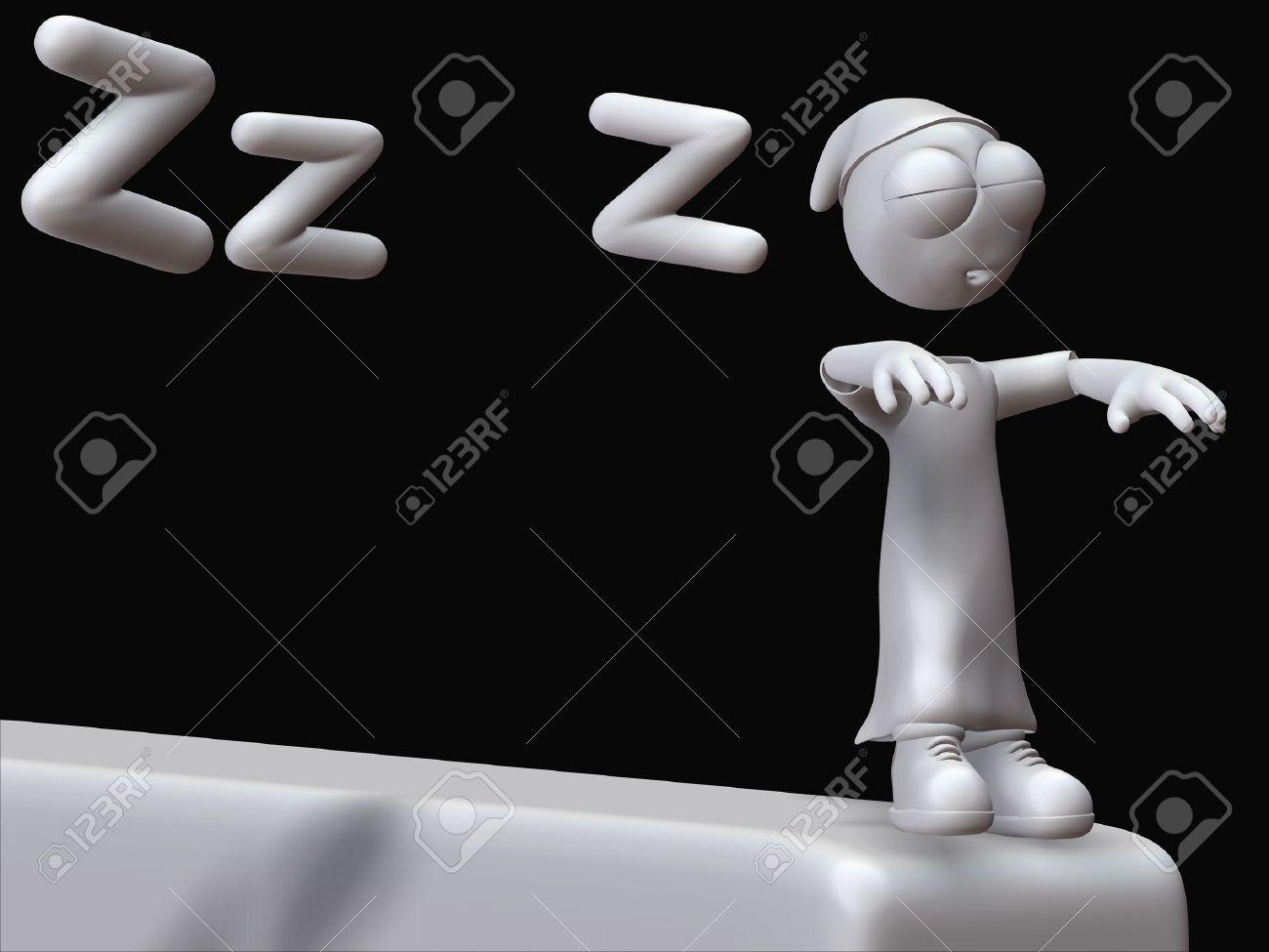 dreaming sleepwalking with ziggy zeitgeist Stock Photo - 10495407