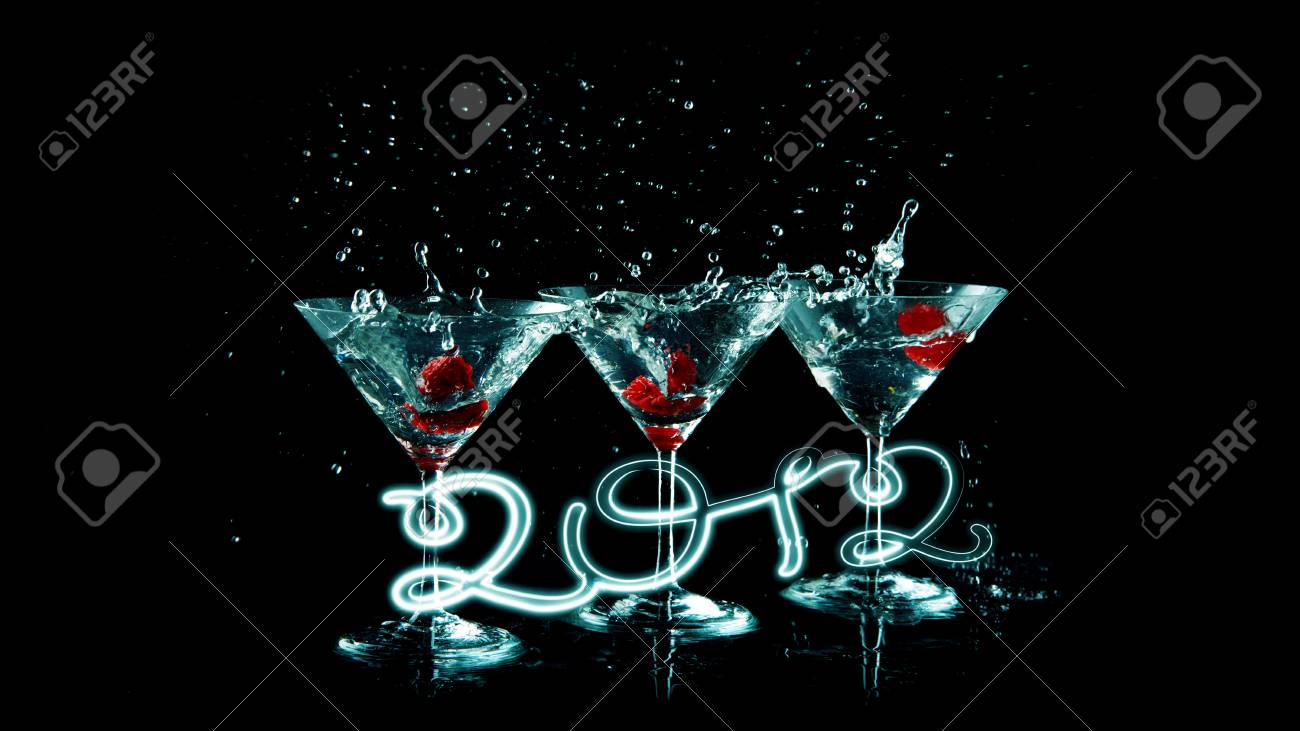 happy 2012 blue Stock Photo - 10818125