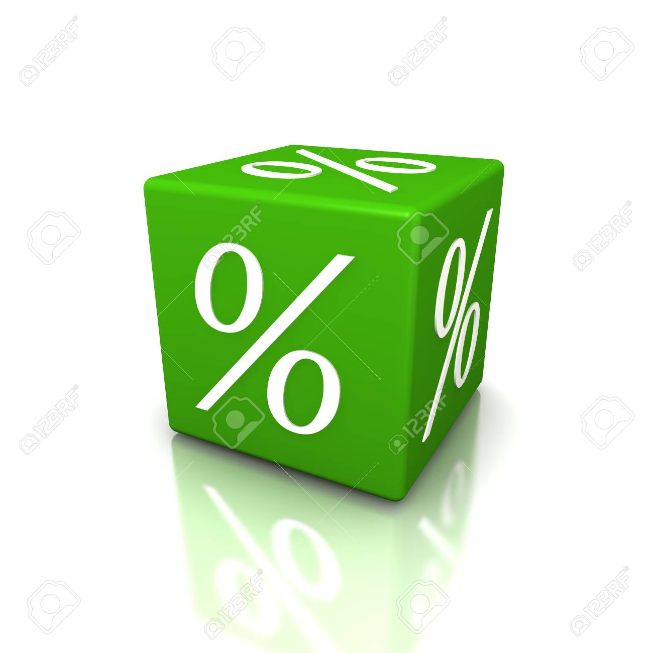 Discount cube on a white background Stock Photo - 15705424