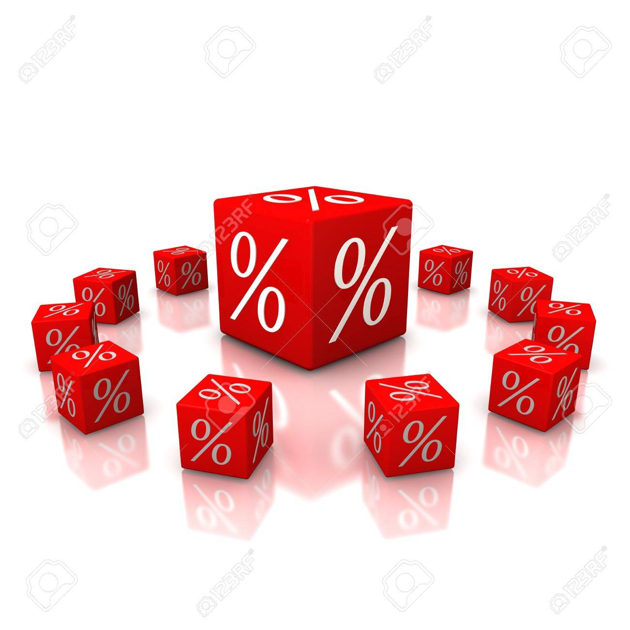 Discount cubes on a white background Stock Photo - 15705459