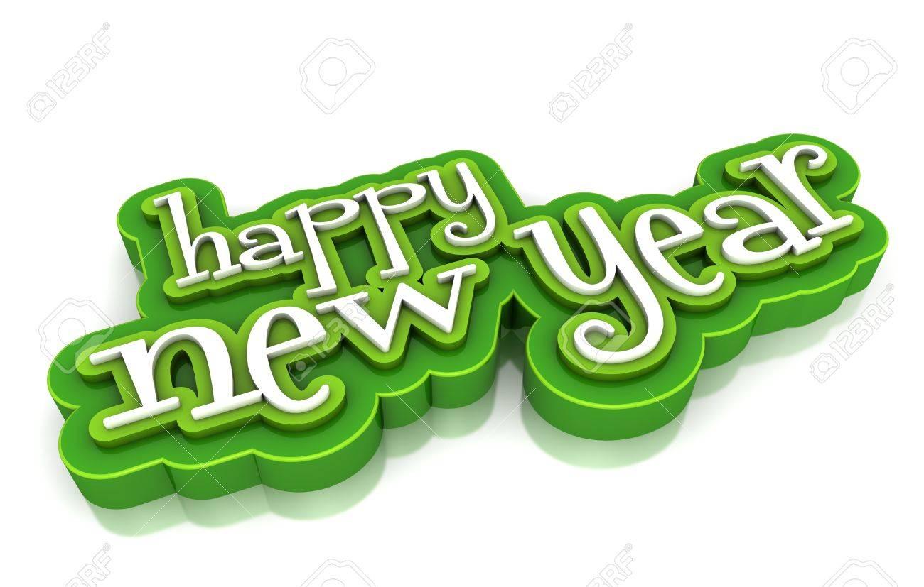 Happy new year on white background Stock Photo - 15705458