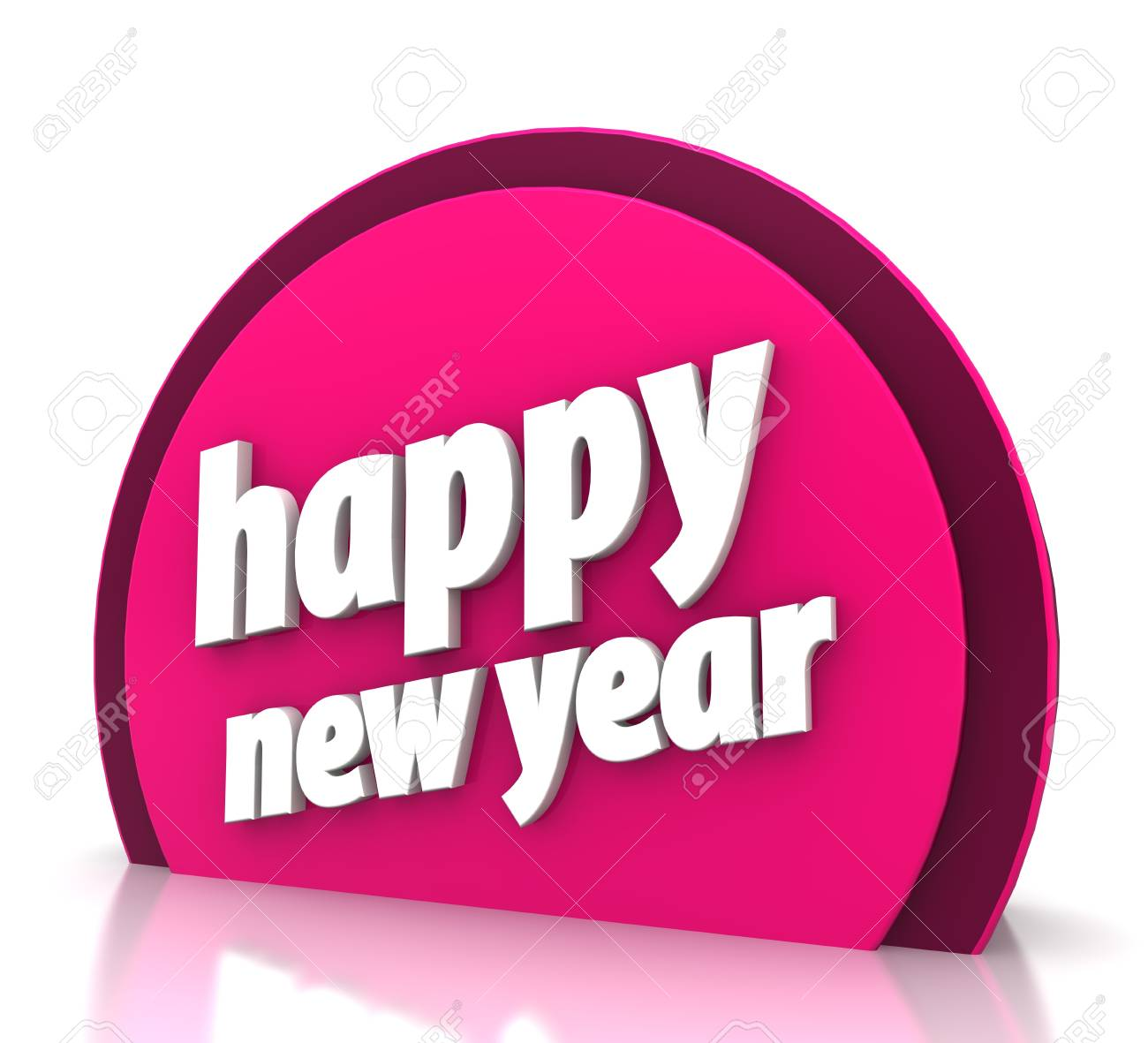 Happy new year on white background Stock Photo - 15705454