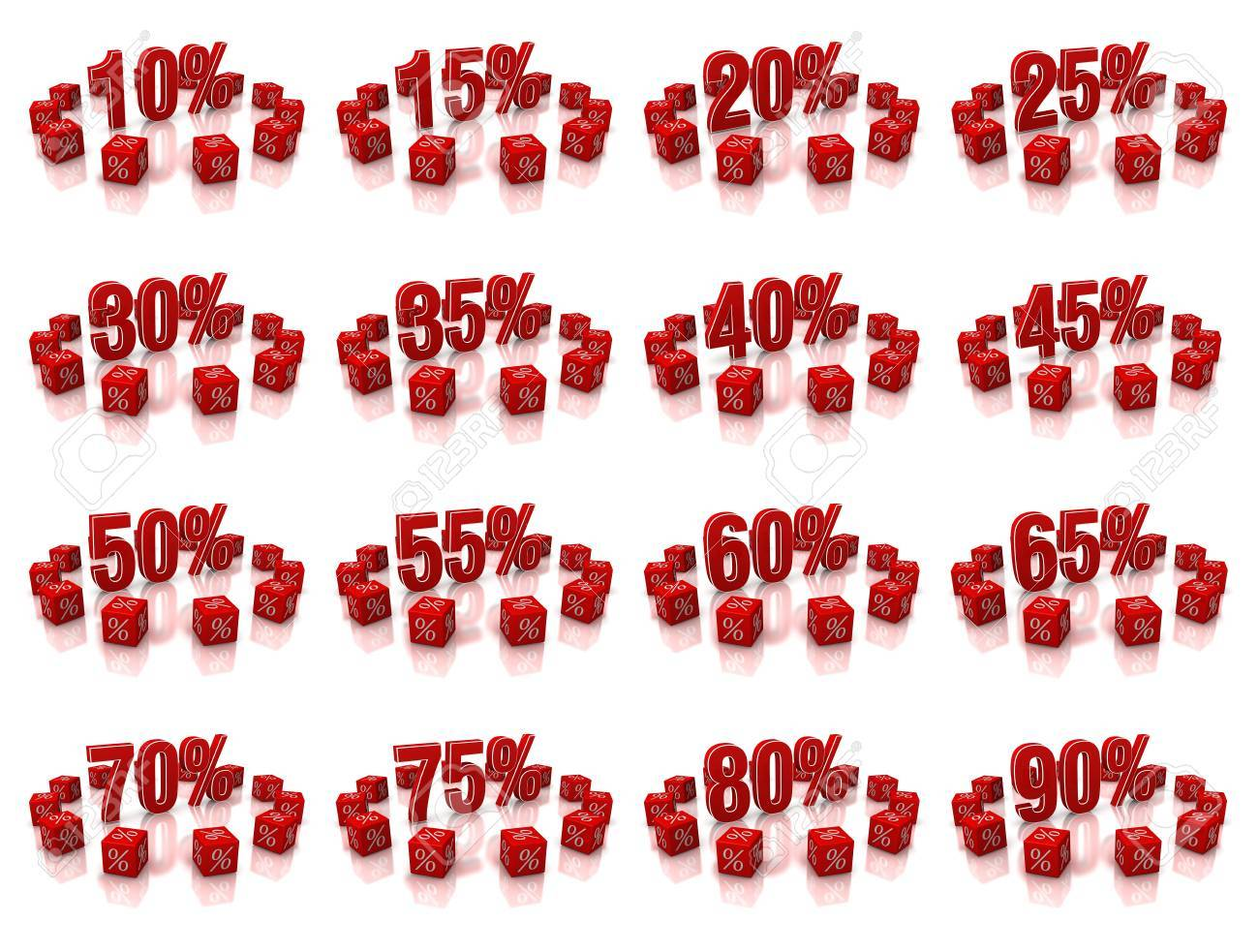 Discount cubes on a white background Stock Photo - 15739222