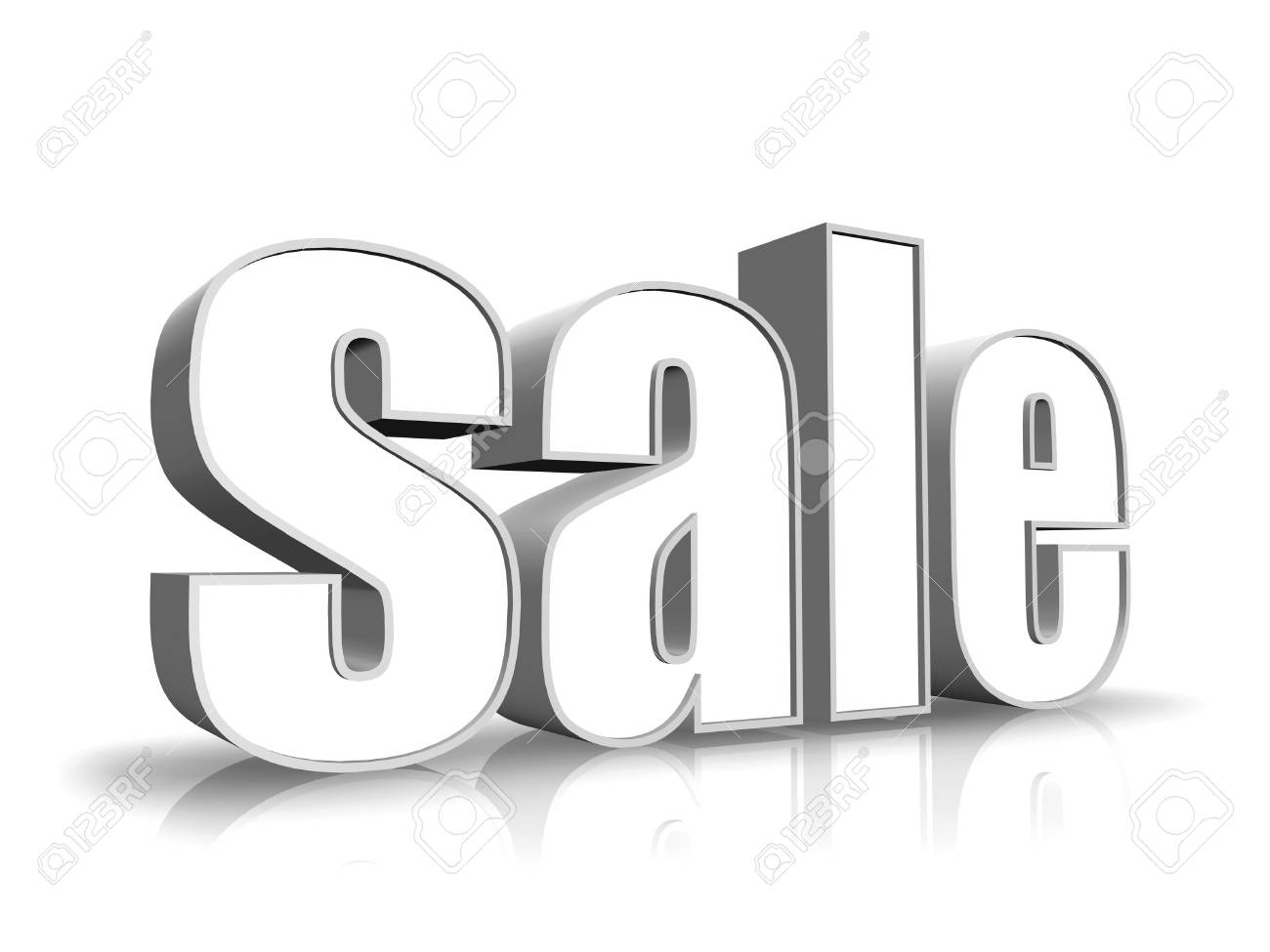 White word - sale - isolated on white background Stock Photo - 6893882