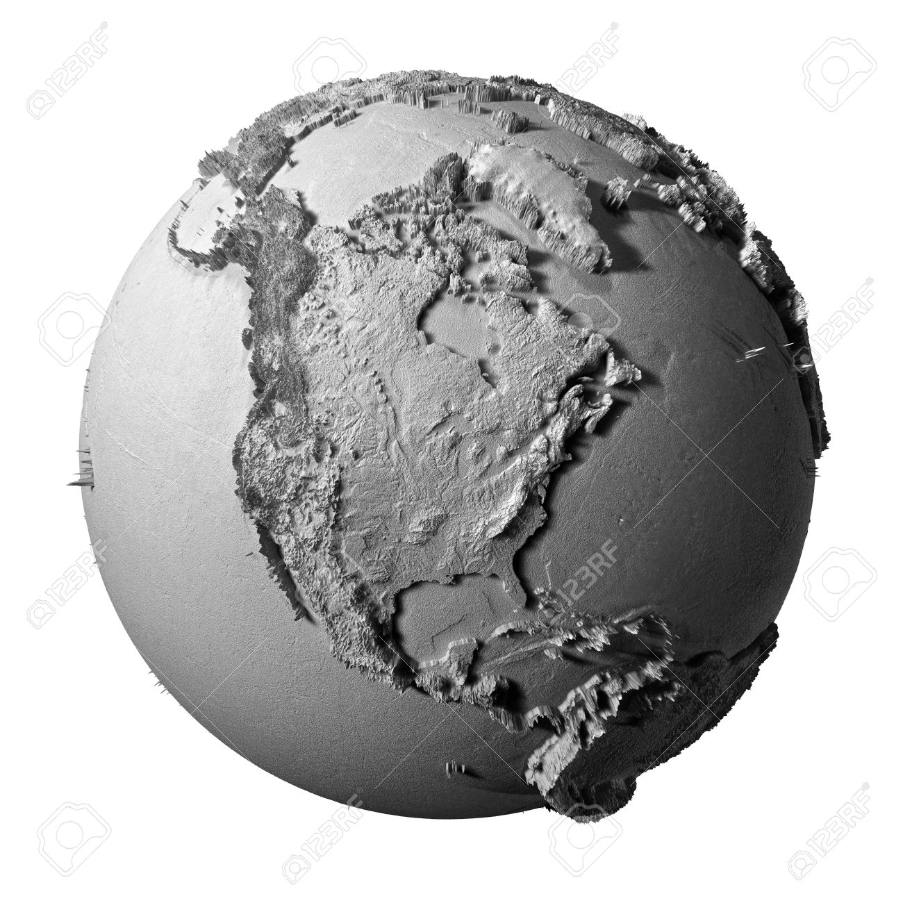 Realistic model of planet earth isolated on white background realistic model of planet earth isolated on white background north america 3d illustration stock sciox Gallery
