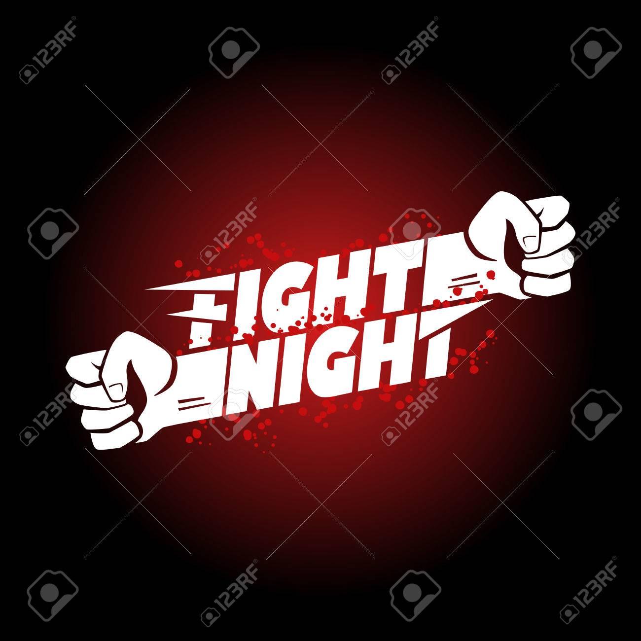 Pelea De MMA Noche, La Lucha Libre, Boxeo Del Campeonato Puño Para ...