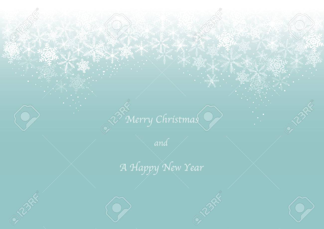 Christmas card image of snow header - 48347386