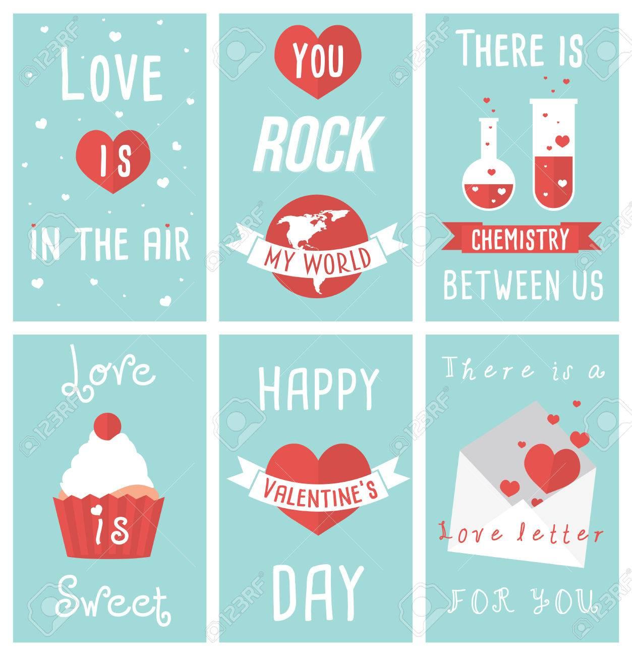 Set of modern flat design illustrations of valentines day greeting set of modern flat design illustrations of valentines day greeting cards stock vector 37066583 m4hsunfo
