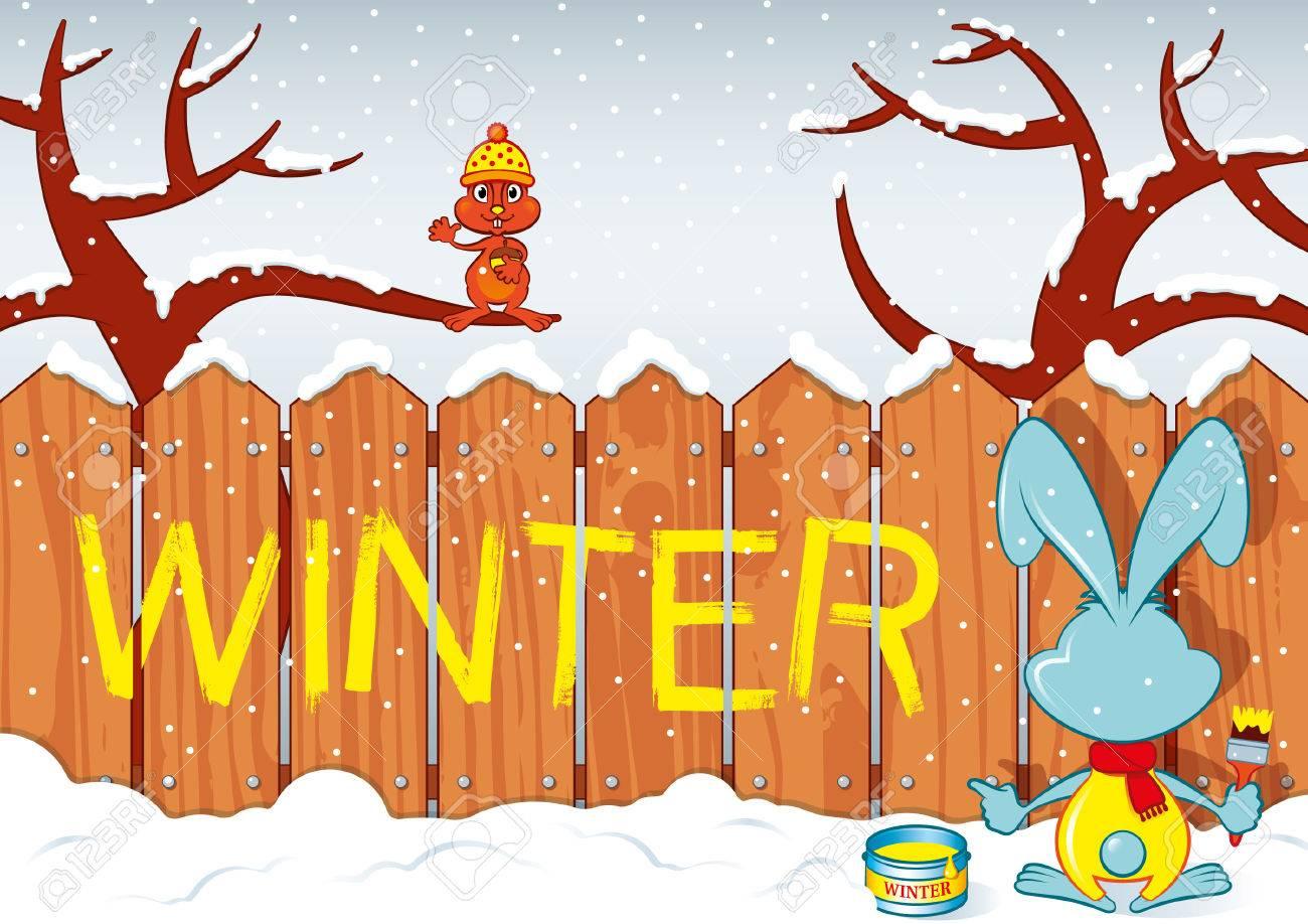 Winter Rabbit Archivio Fotografico - 28504839