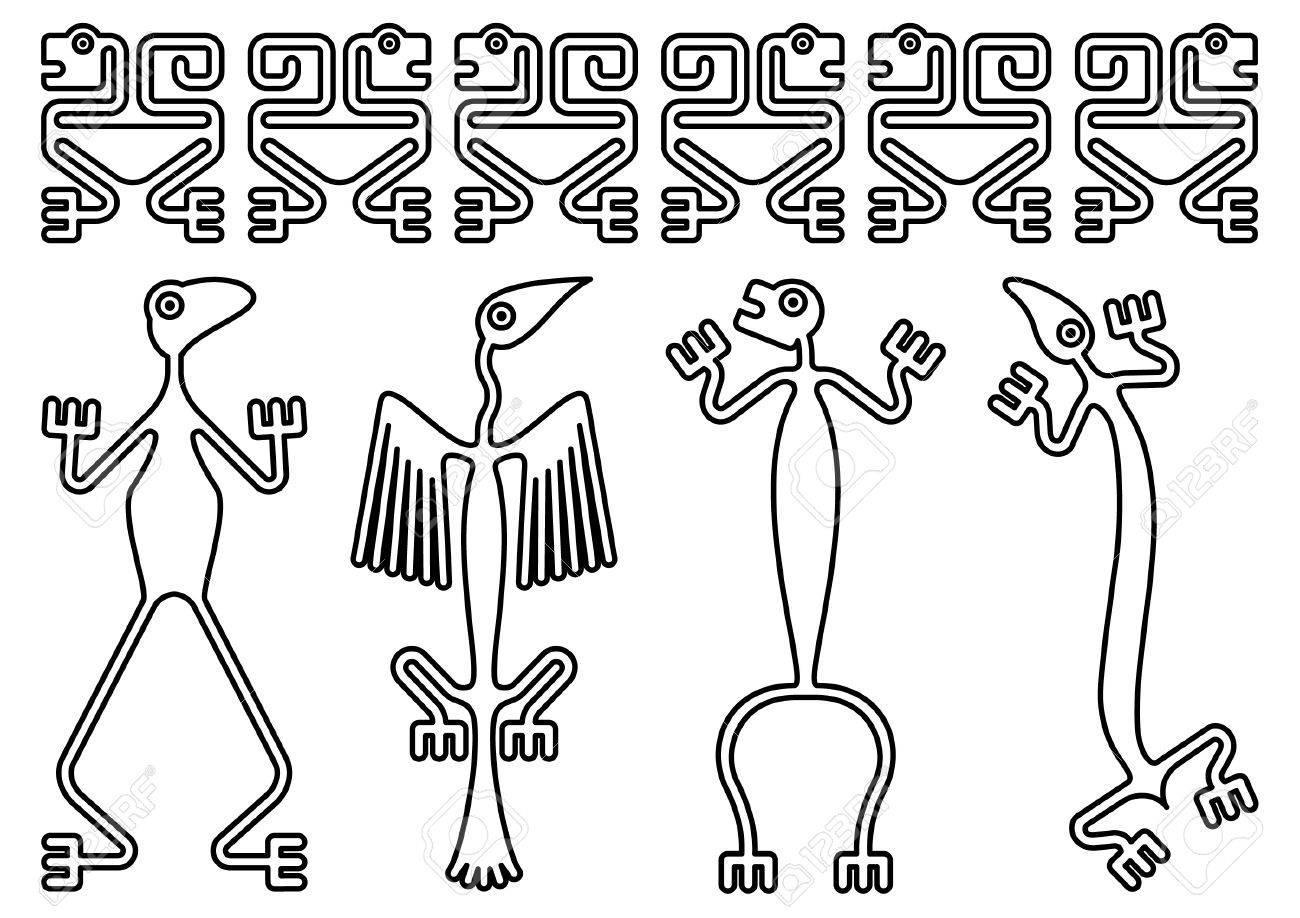 Disegni Precolombiani Archivio Fotografico - 28915786