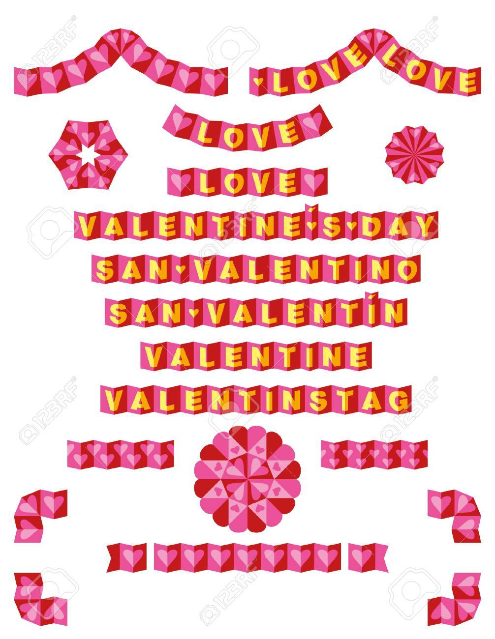 Origami confina con Amore Archivio Fotografico - 28915785