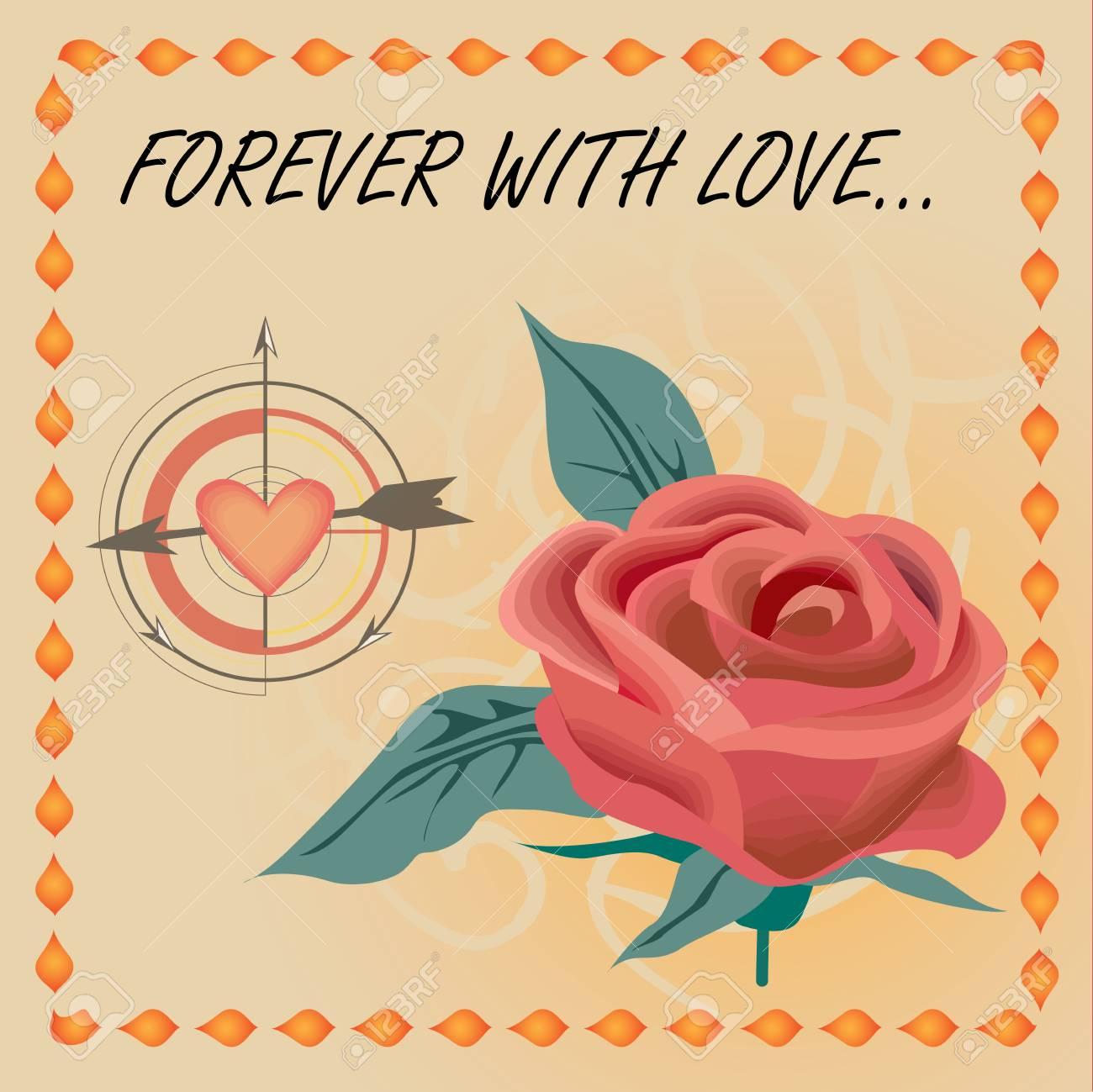 vector rose love Stock Vector - 11637661