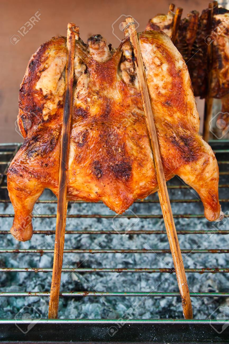 Grilling chicken Stock Photo - 9585754