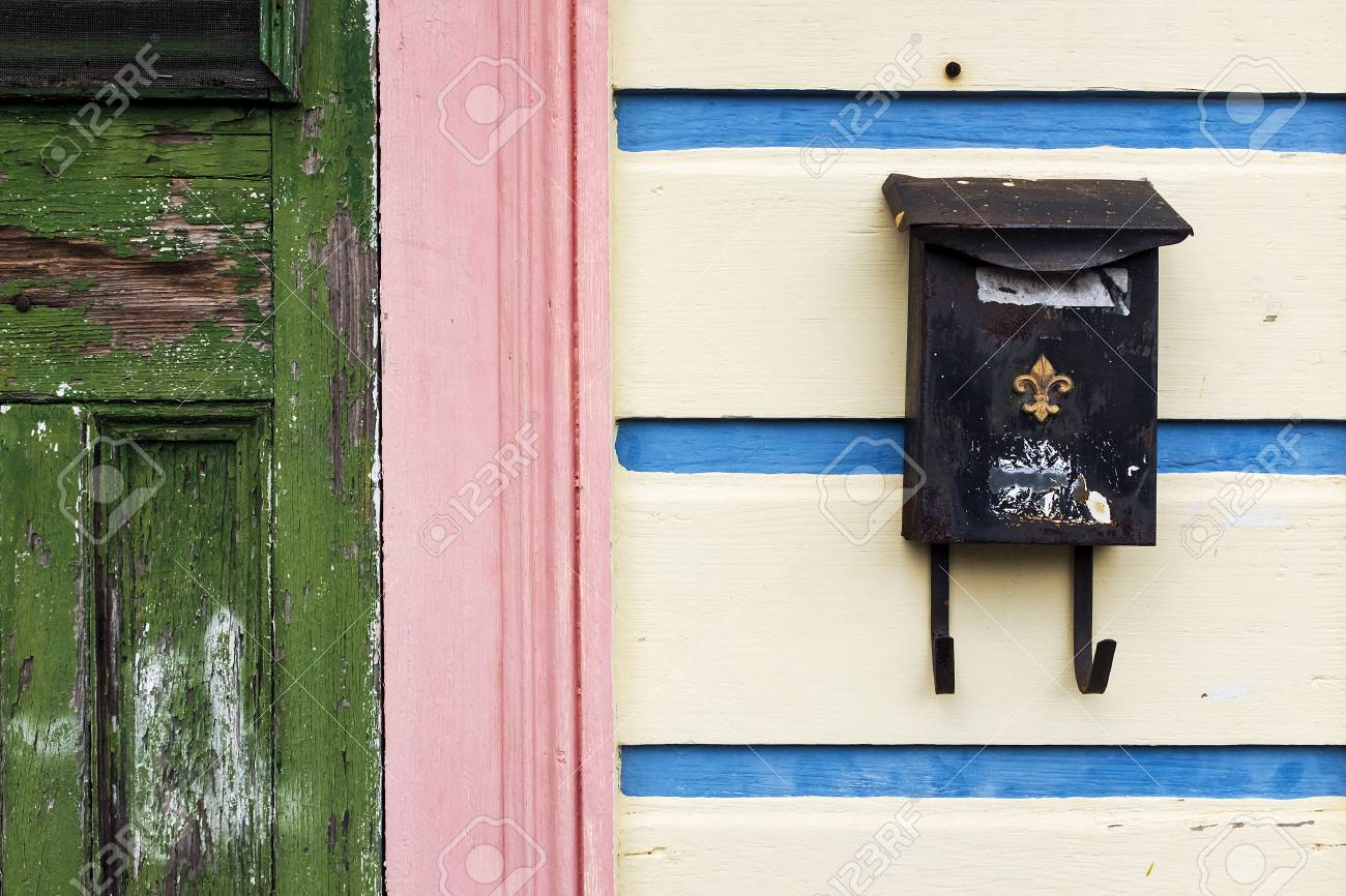 Picture of: Detail Of The Facade Of A Colorful House In New Orleans With Stock Photo Picture And Royalty Free Image Image 68568481