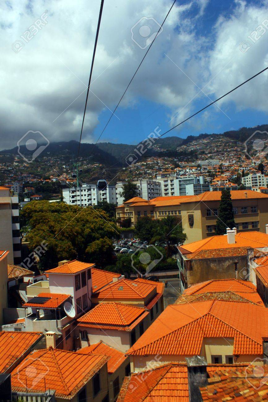 Cablecar, Madeira island, Portugal Stock Photo - 17317732