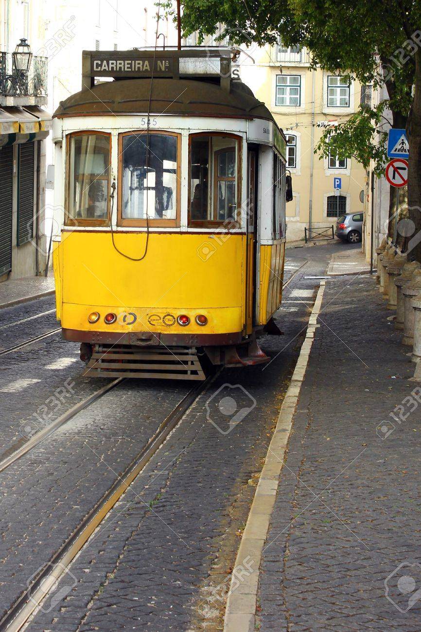 Famous Tram 28, Lisbon, Portugal Stock Photo - 17522536