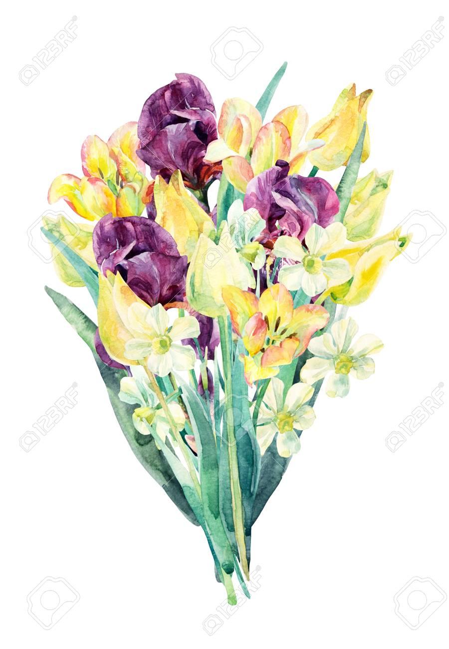 Download Watercolor Floral Bouquet Png Svg Download Watercolor