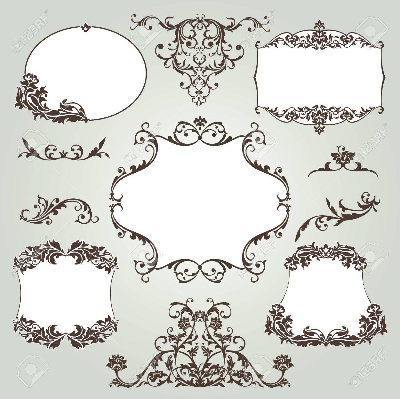 vector set of floral elements Stock Vector - 9177552