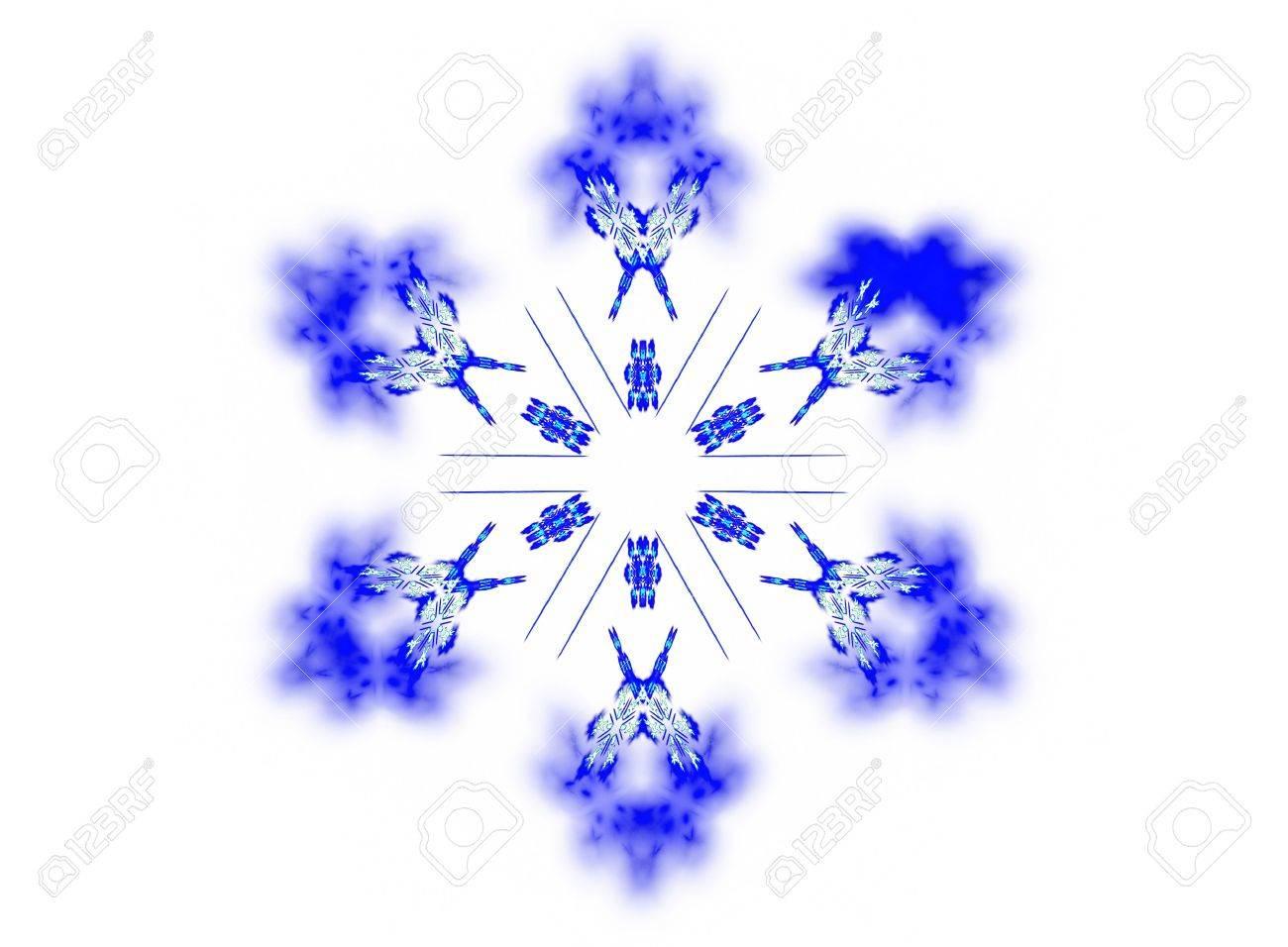 """Buy Stock Photo """"White Snowflake. Isolated render on white ..."""