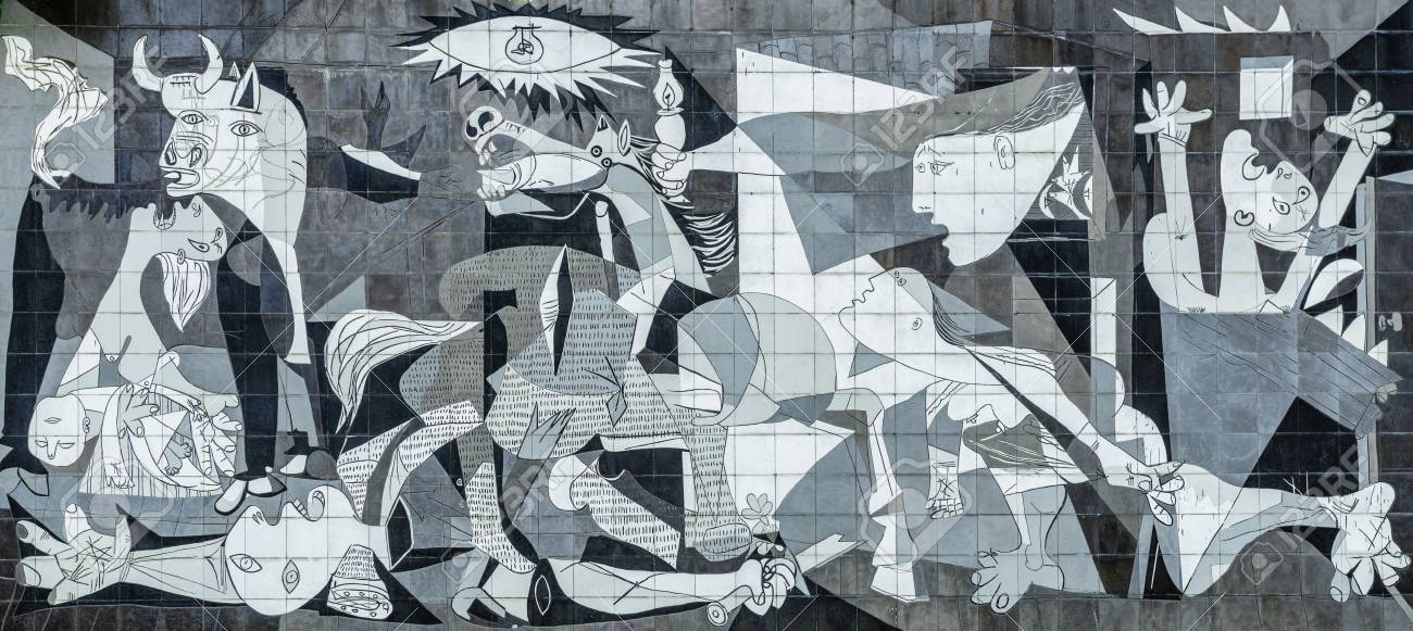 Tile Reproduction of Picassos Guernica Painting, Guernica - Spain - 115996071