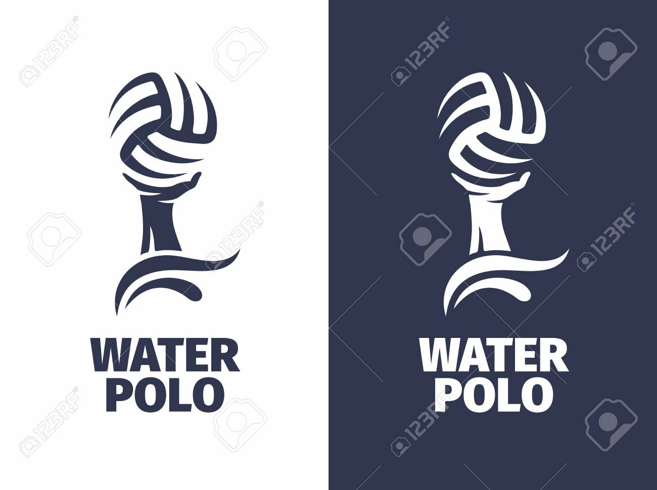 Modern vector professional sign - water polo. - 89766133