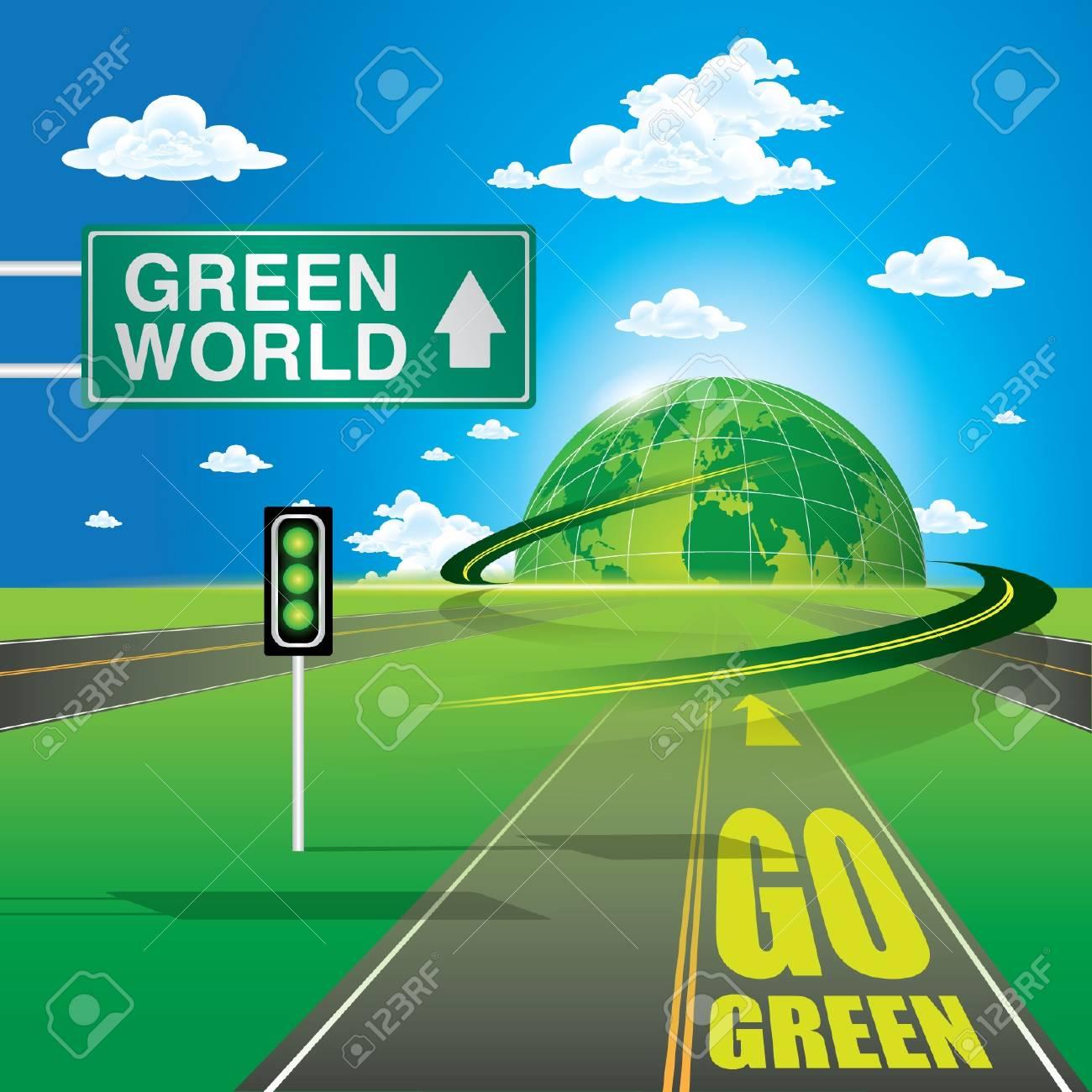 Go Green Stock Vector - 12976320