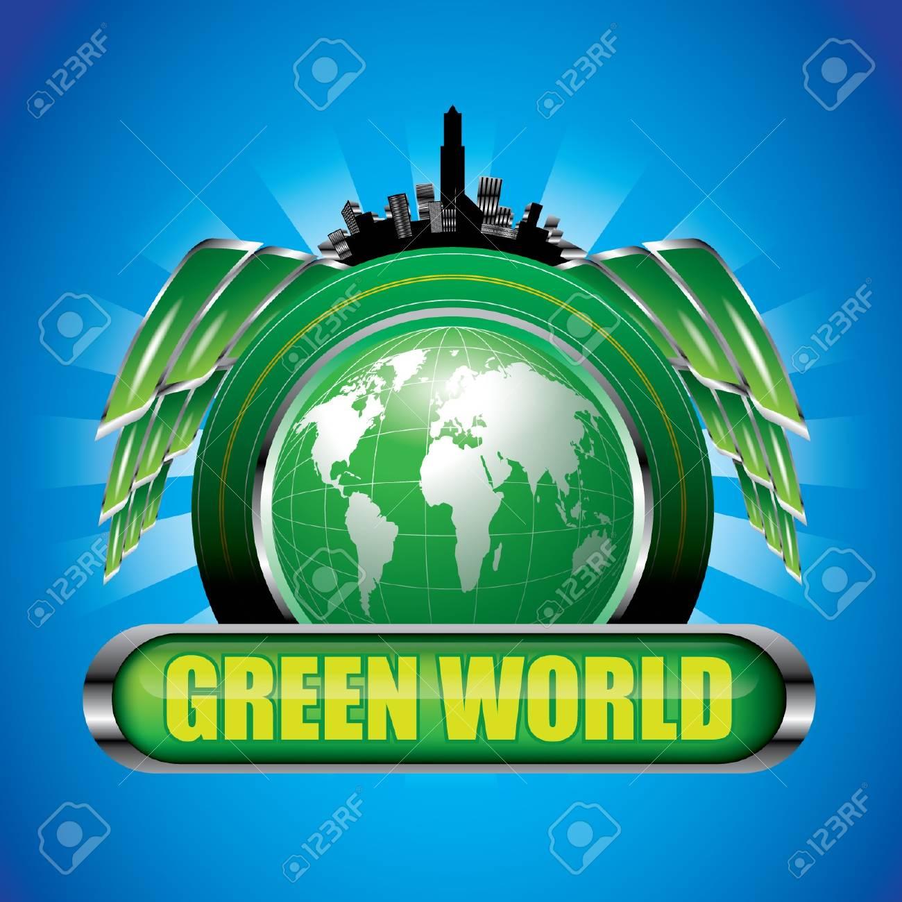 Green World Stock Vector - 12976316