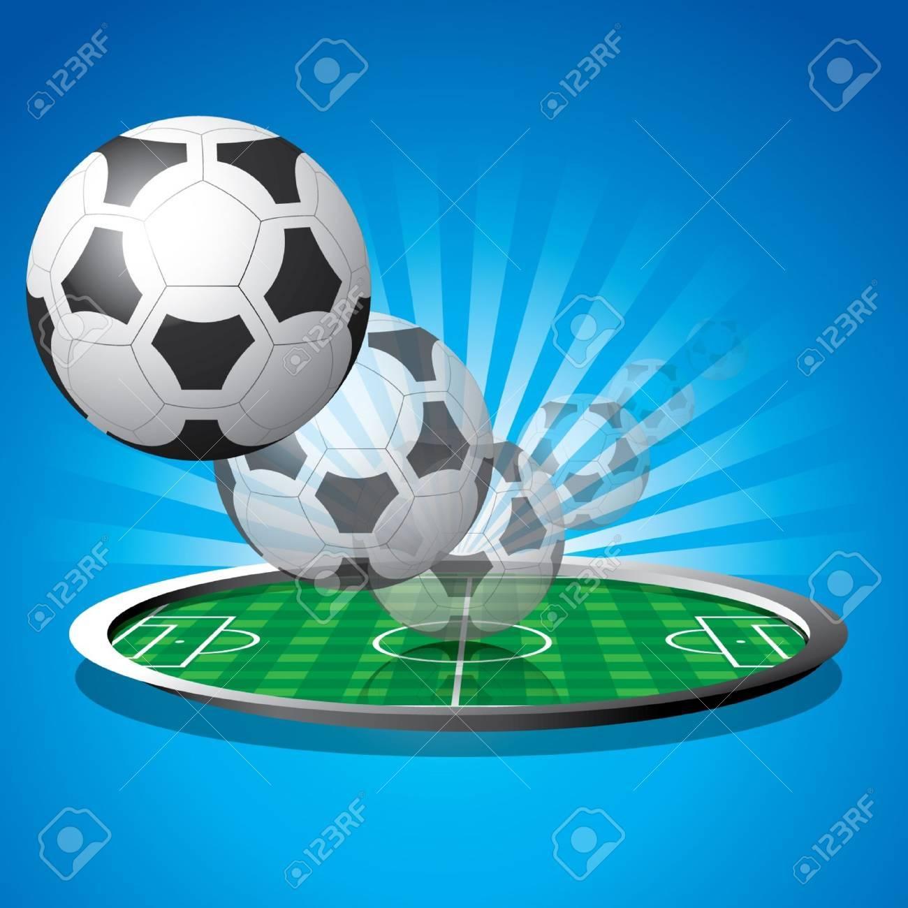 Soccer Football ready to serve Stock Vector - 14072337