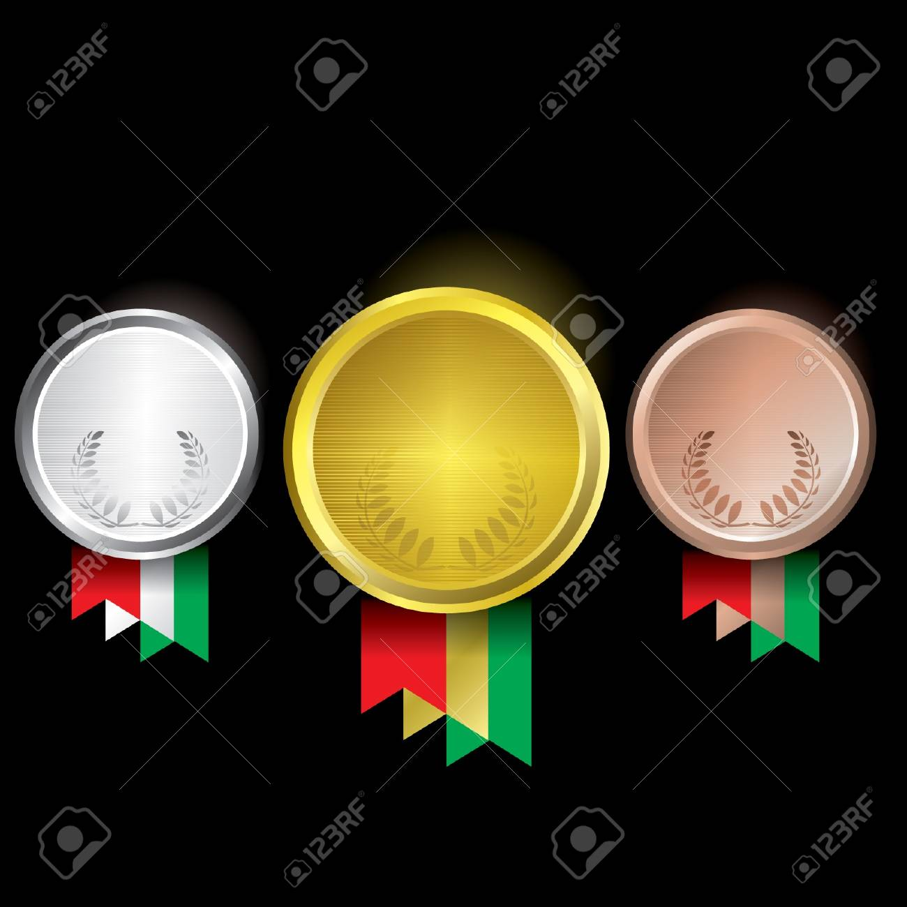 Awards as medals - gold, silver and bronze Stock Vector - 14179932