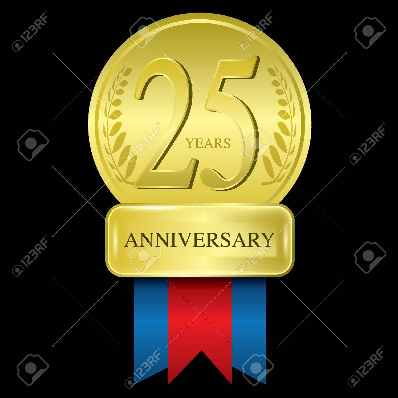 25 years anniversary Stock Vector - 14442696