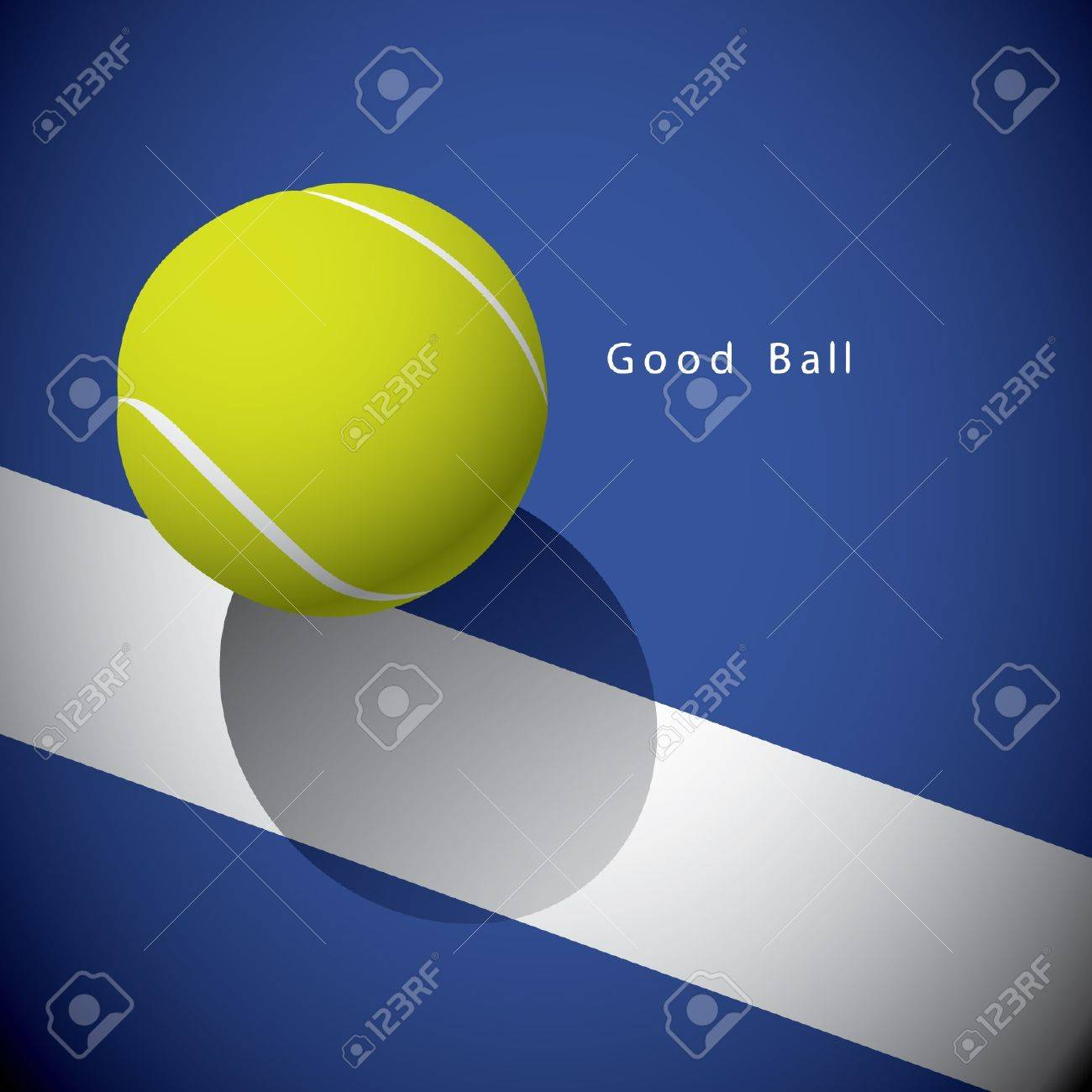 A tennis ball on the line Stock Vector - 15143976