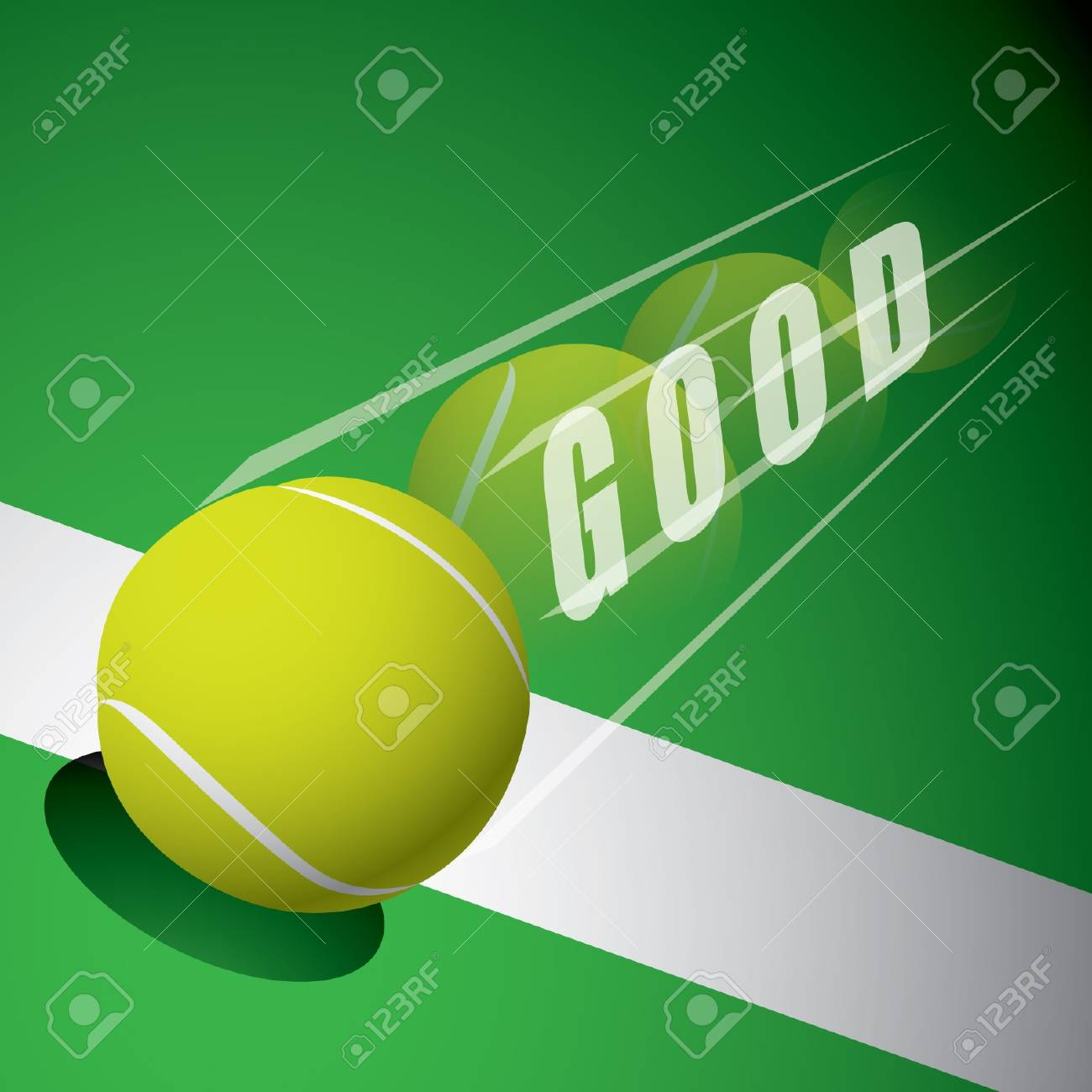 A tennis ball on the line Stock Vector - 15144006