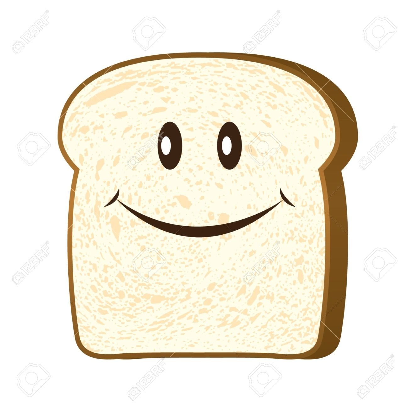 Bread slice isolated on white vector - 15558107