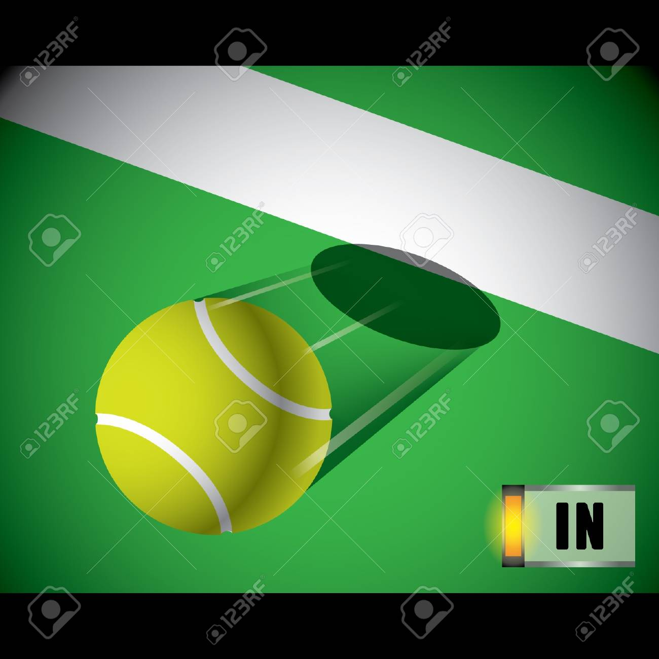 A tennis ball on the line Stock Vector - 16644216