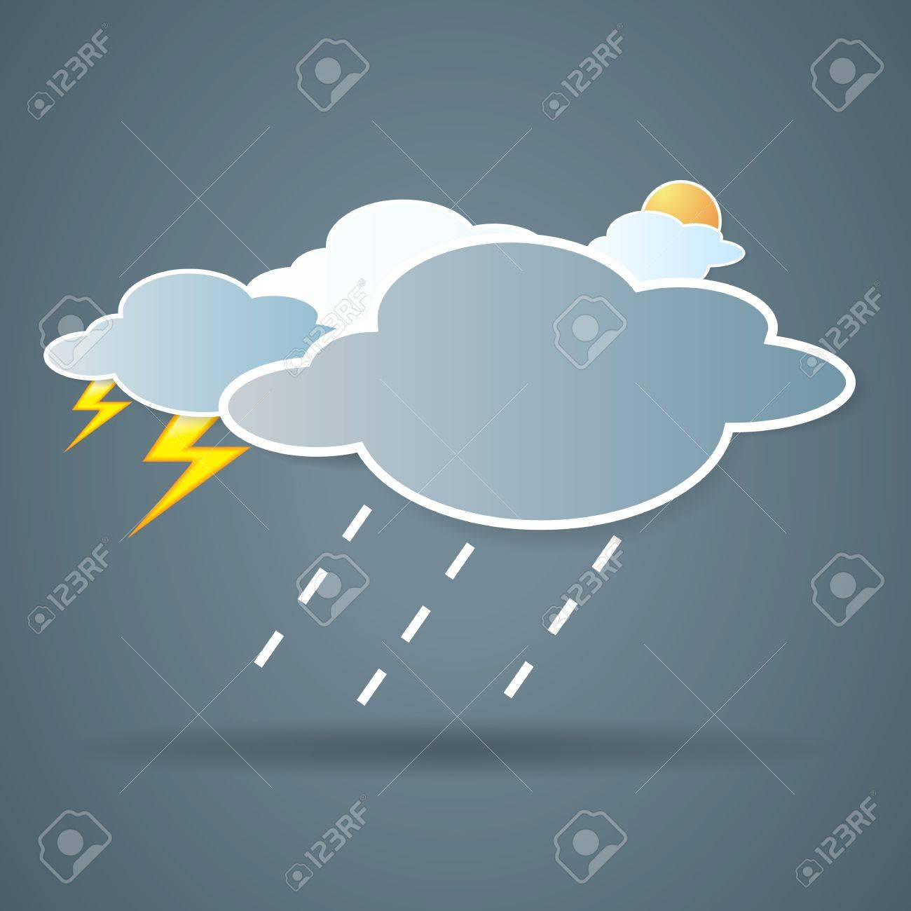 collection of clouds, Weather icon for design. Stock Vector - 17521869