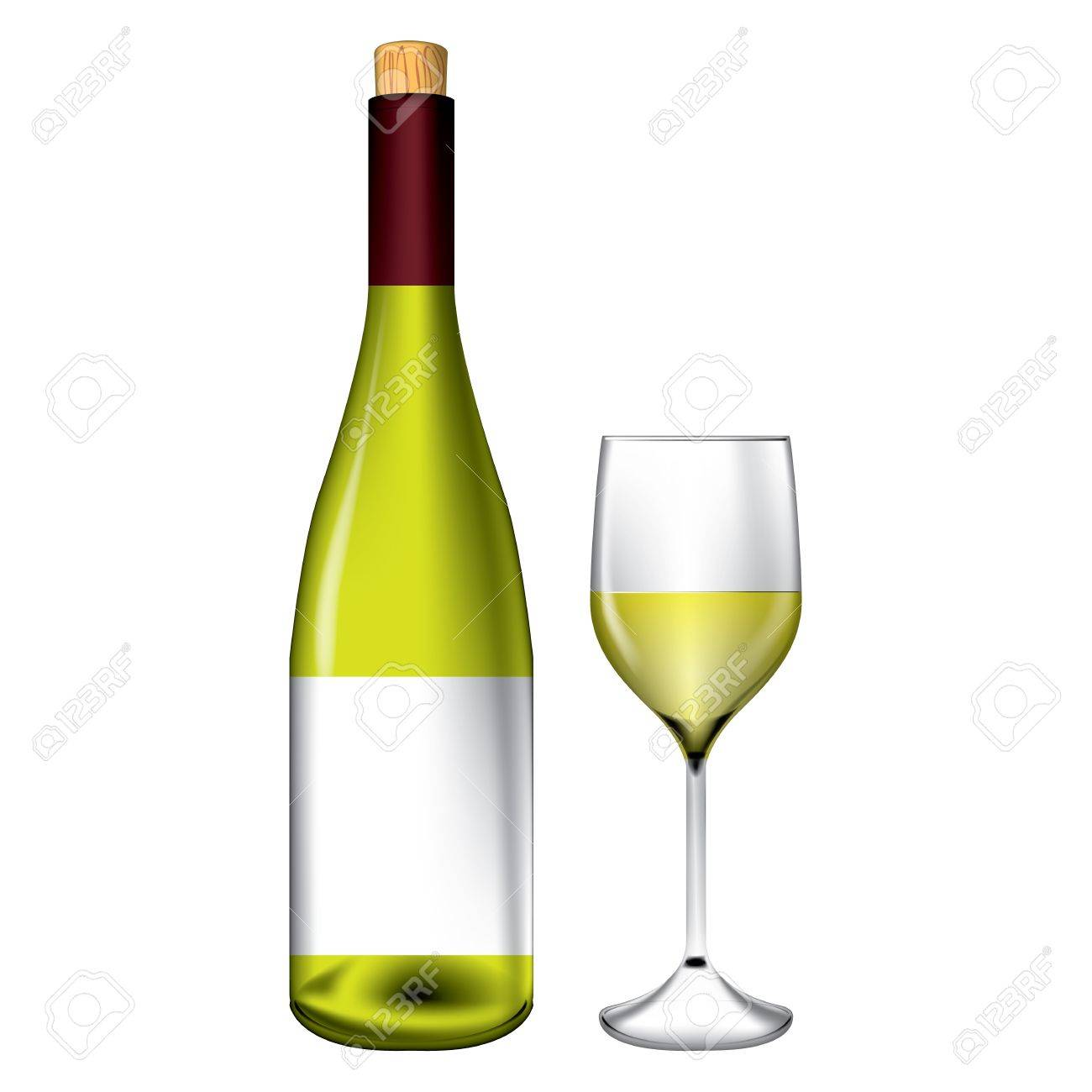 Bottle and wine glass vector Stock Vector - 17688953