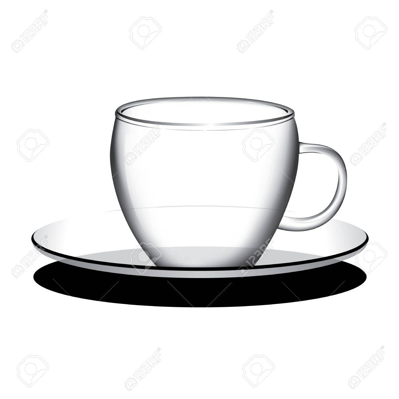 empty coffee tea cup vector royalty free cliparts vectors and rh 123rf com teacup free vector download teacup free vector download