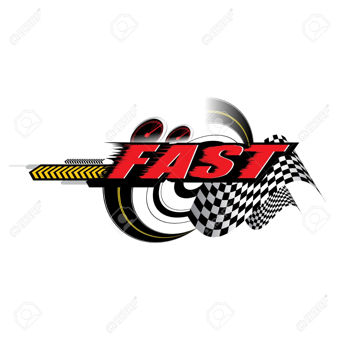 Fast Speed Logo Concept Vector Royalty Free Cliparts Vectors And