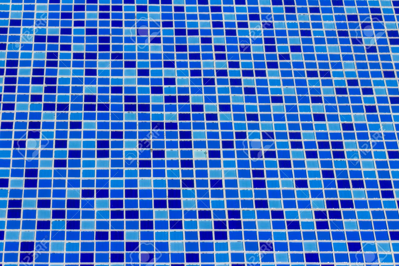 ceramic tile mosaic in swimming pool - seamless texture