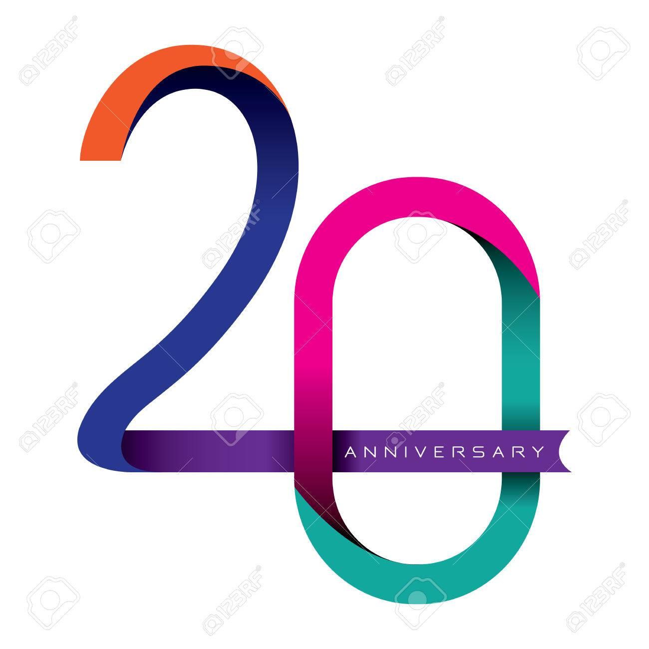 20 years anniversary vector - 32368415
