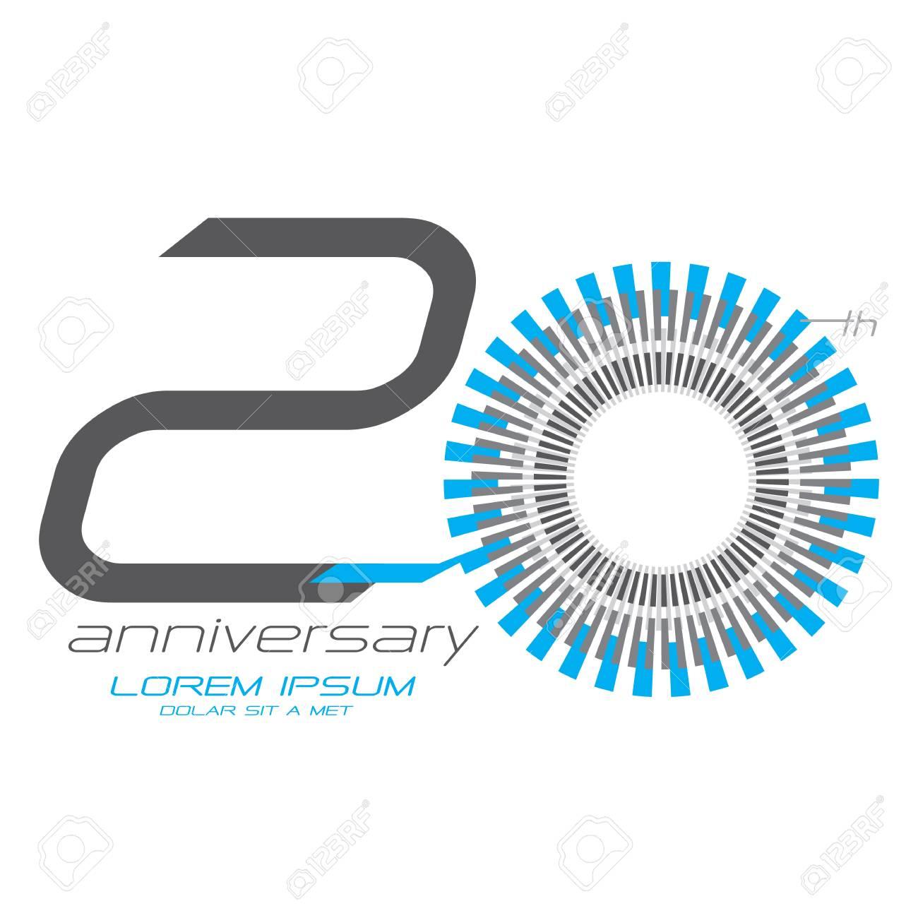 20 Jaar Verjaardag Concept Vector Royalty Vrije Cliparts Vectoren