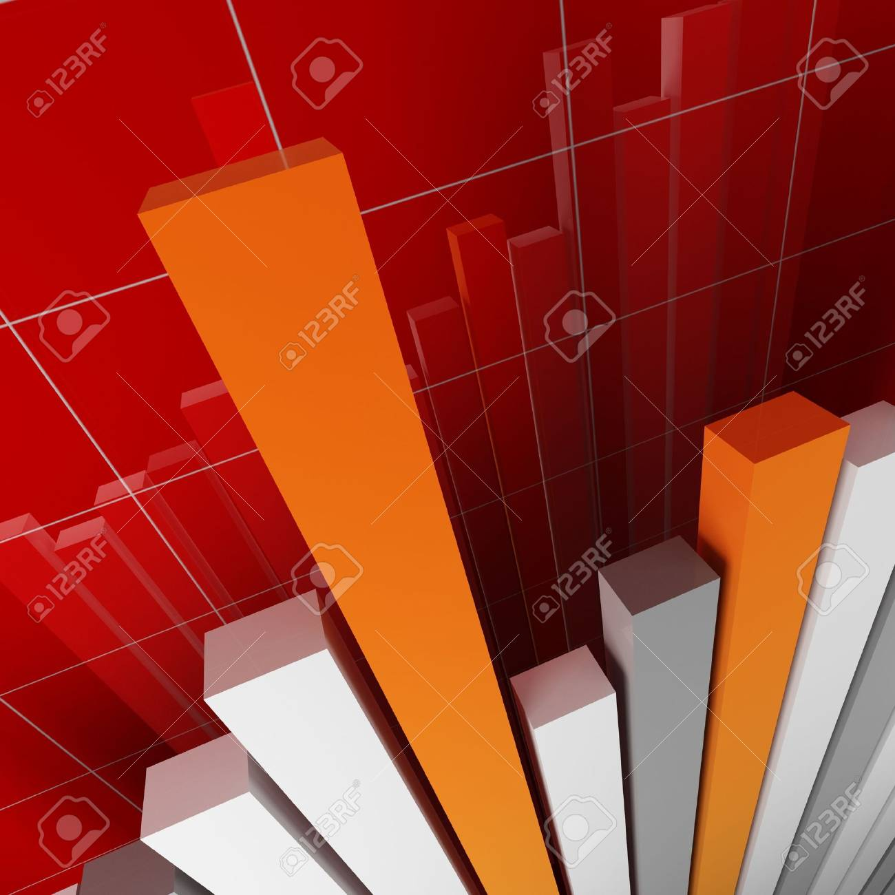 red financial stat Stock Photo - 2832140