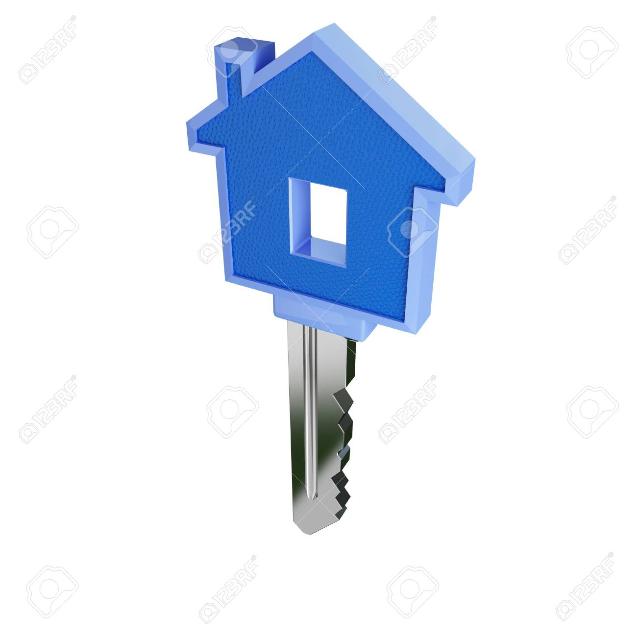 fine 3d image of isolated key of dreams house Stock Photo - 3127522
