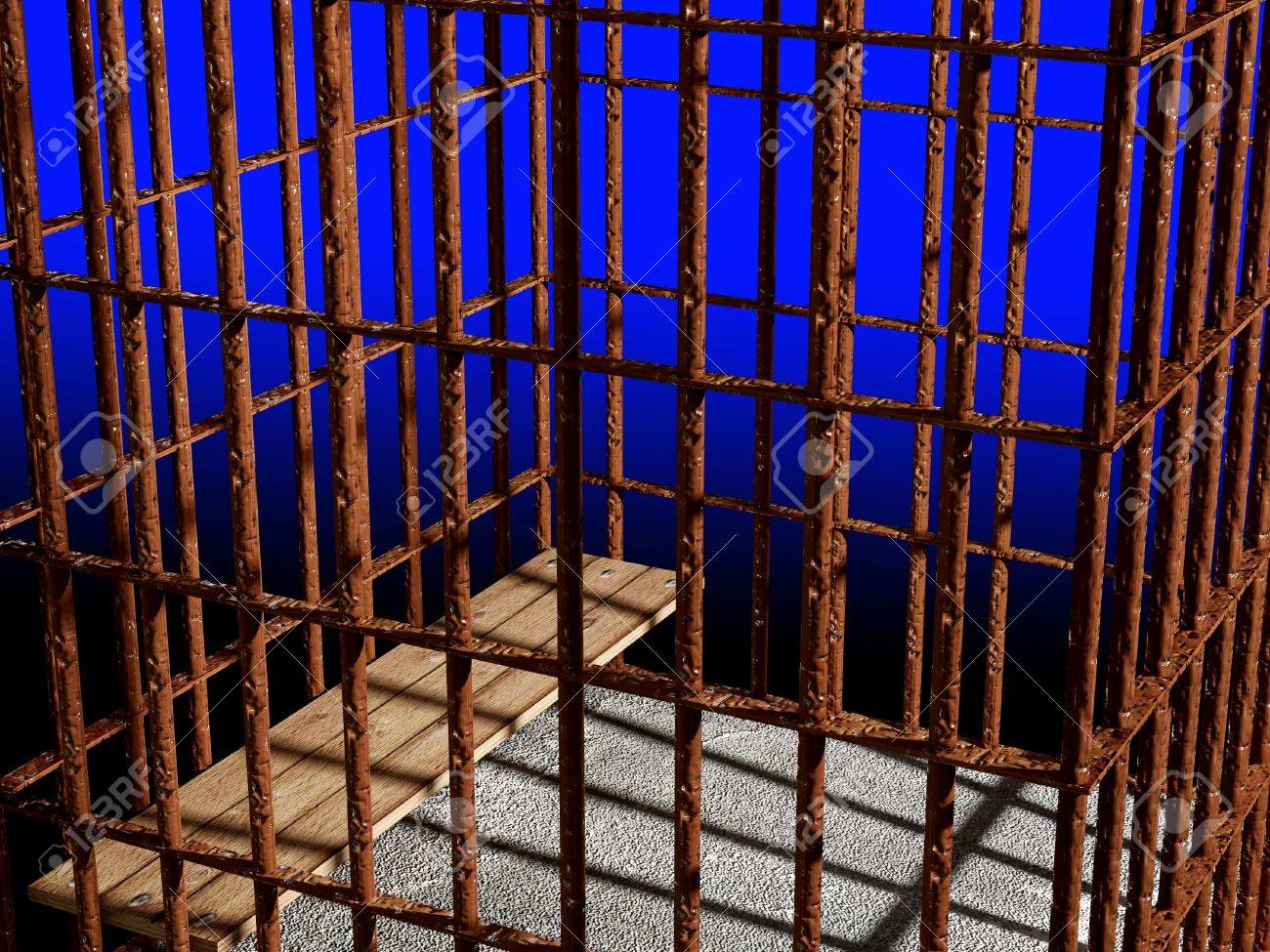 metal cage 3d, concept of jail 01 background Stock Photo - 3229132