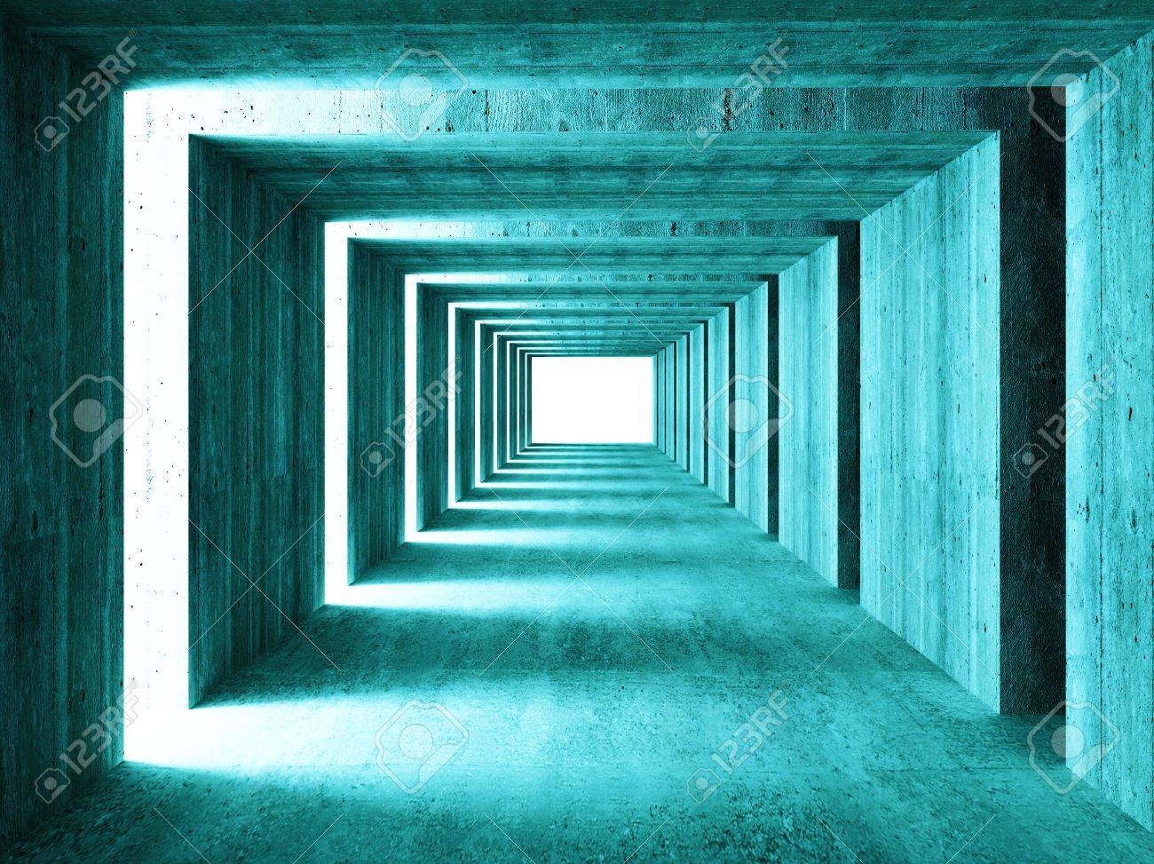 fine image of 3d concretet tunnel abstract background Stock Photo - 3683769
